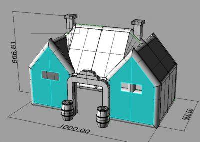 De Ierse Pub, opblaasbare feesttent, partytent, thema tent huren of kopen bij WE-inflate, ontwerp 1