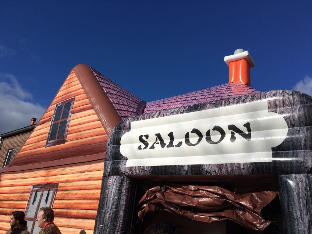 Saloon, opblaasbare partytent, thematent, te huur, te koop bij WE-inflate