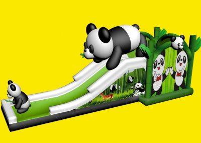 Opblaasbare glijbaan met panda's huren of kopen bij WE-inflate