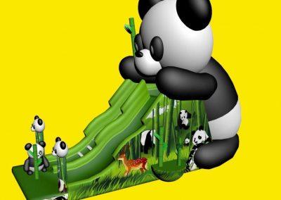 Glijbaan met panda's