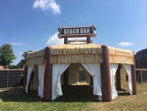 Beach Bar, opblaasbare feesttent, partytent te huur bij WE-inflate te Enschede
