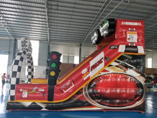 Formule 1, springkussen huren bij WE-inflate te Enschede