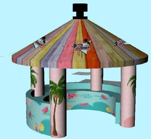 Coconut Bar, opblaasbare feesttent, partytent, thema tent huren of kopen bij WE-inflate