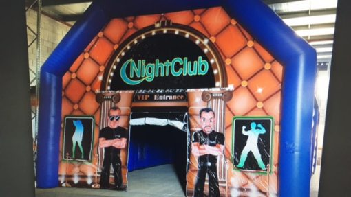 Night Club, opblaasbare feesttent, partytent, thema tent huren of kopen bij WE-inflate