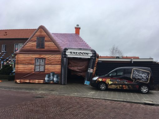 Saloon, opblaasbare party tent, feesttent in Oldenzaal