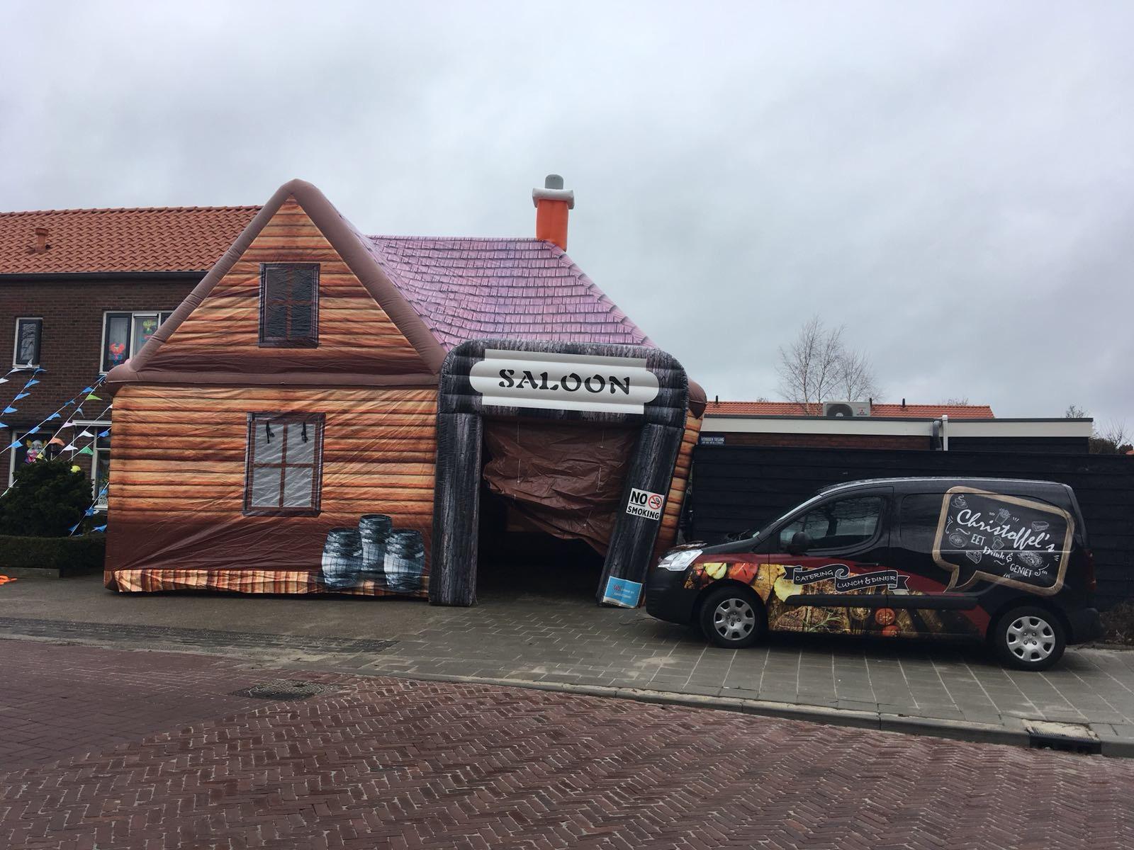 Saloon, opblaasbare party tent, feesttent in Oldenzaal