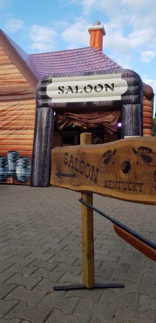 Saloon, opblaasbare party tent, feesttent te huur of kopen bij WE-inflate Enschede
