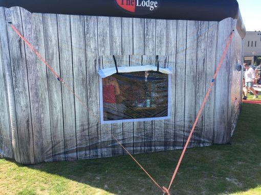 The Lodge, huur of koop een thematent, partytent, feeststent, verkooptent bij WE-inflate Enschede 3