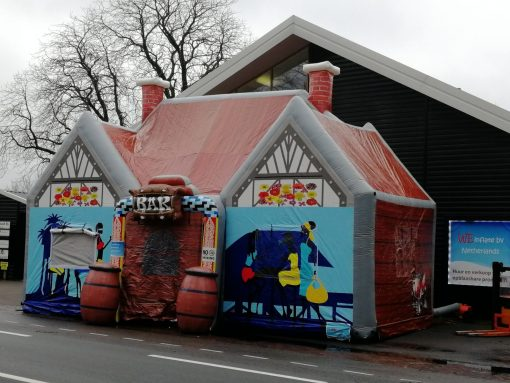 Zanzi bar, opblaasbare tent, feesttent, party tent, thema tent huren of kopen bij WE-inflate