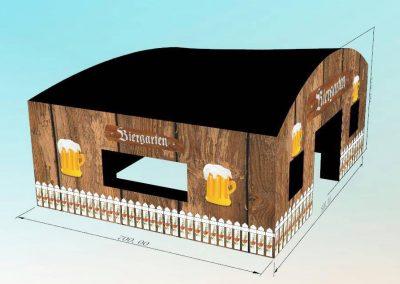 Biergarten, opblaasbare feesttent, thematent, huren en kopen bij WE-inflate, zijkant 1