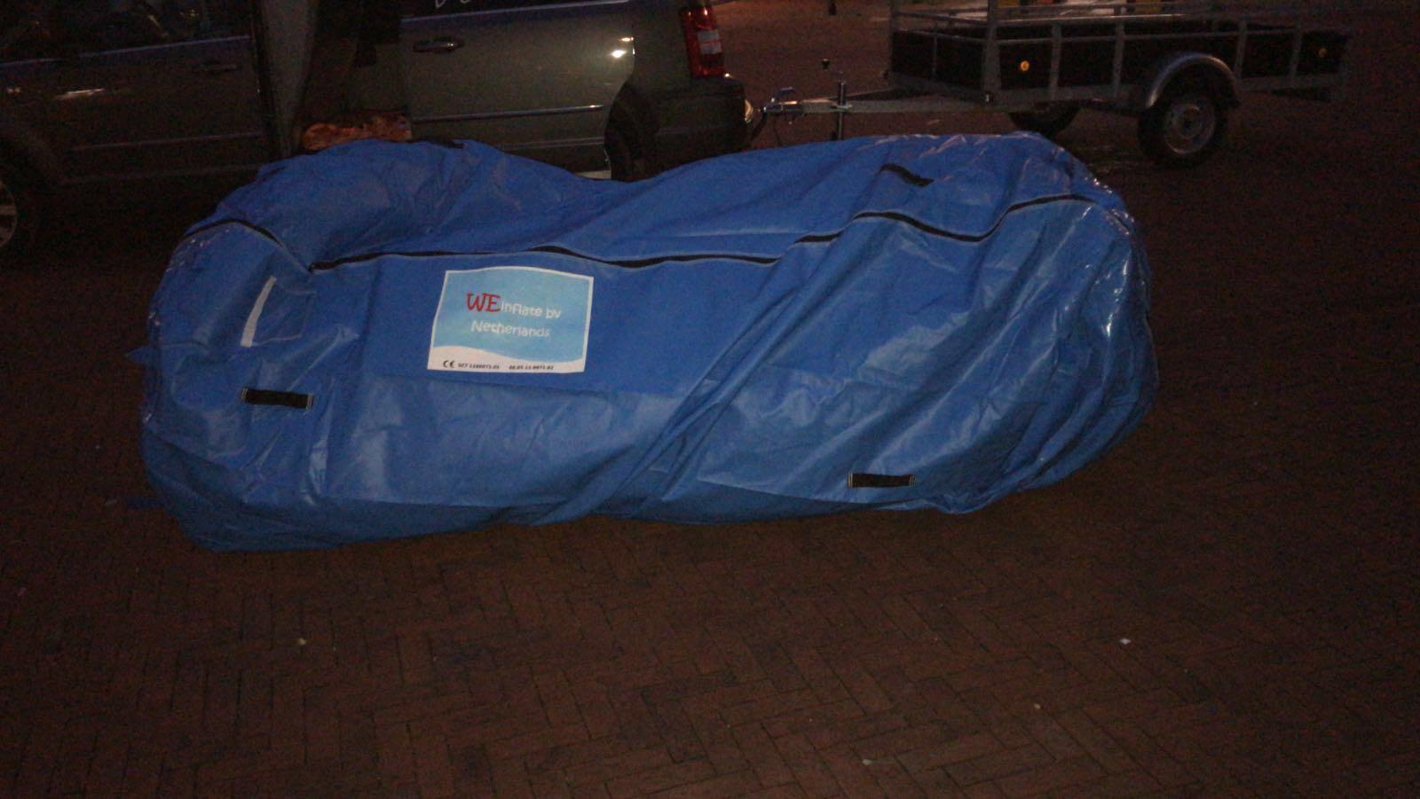 Handy bag, kopen, WE-inflate, opblaasbare tent, springkussen