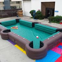 Poolbiljart-voetbalbiljart, opblaasbaar poolbiljart, opblaasbaar pool-voetbal te koop bij WE-inflate