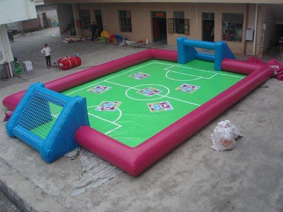 Voetbalveld, opblaasbaar met ondervloer, kopen bij WE-inflate