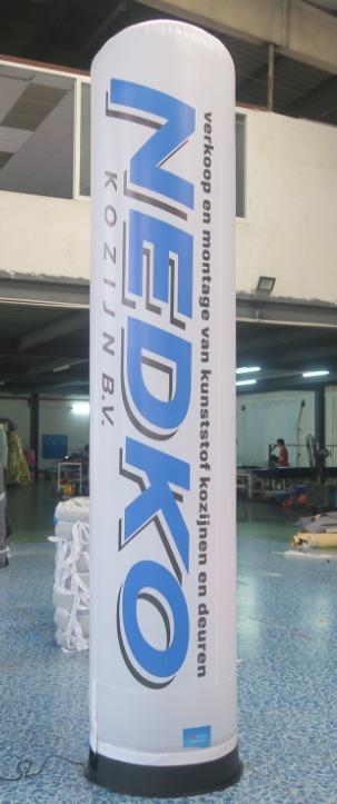 air tube, opblaasbare reclame zuil, reclame zuil met verlichting Nedko