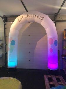 huur de ballonnenboog met led-verlichting bij WE-inflate te Enschede