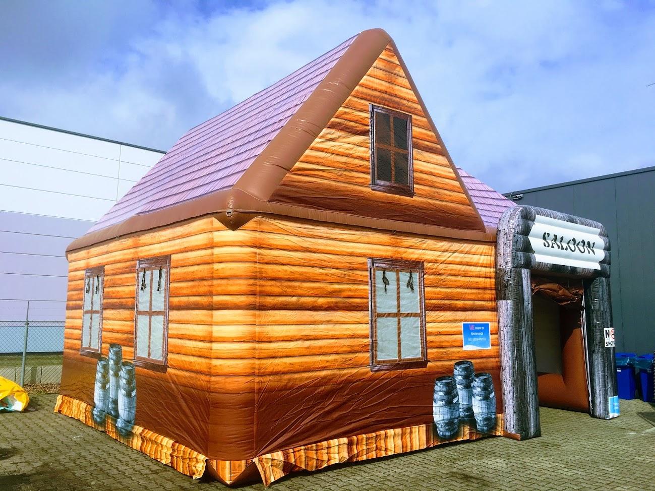Saloon, opblaasbare partytent, thematent, huren, kopen bij WE-inflate