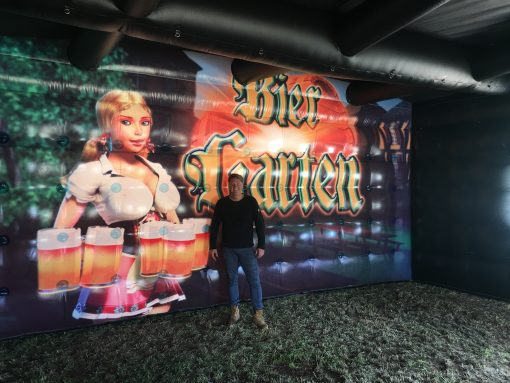 Biergarten, opblaasbare feesttent, partytent, thematent te huur of te koop bij WE-inflate te Enschede