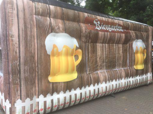 Biergarten, opblaasbare feesttent, thematent, huren en kopen bij WE-inflate 1