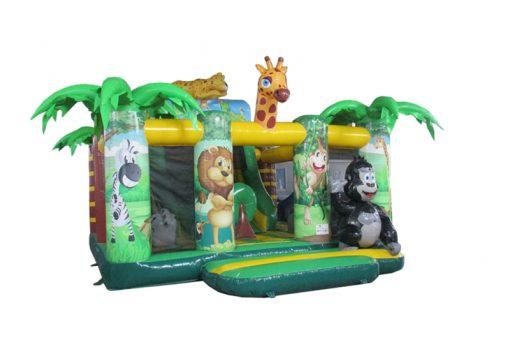 Jungle, vrolijk springkussen met dieren te koop bij WE-inflate Enschede 1