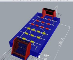 Menselijke voetbaltafel ontworpen en vanaf nu te koop bij WE-inflate te Enschede