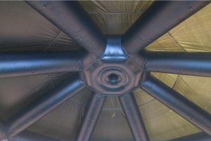Smoking Kitchen opblaasbare tent met schoorsteen om in te koken, maatwerk van WE-inflate5
