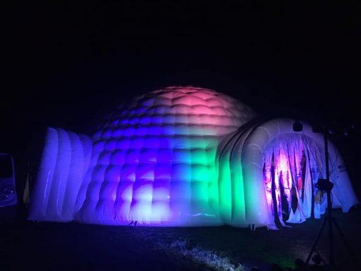 Huur de Iglo bij WE-inflate Enschede, nu met Led verlichting