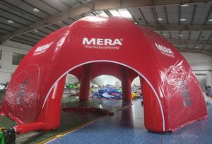 Mera Petfood dome, Maatwerk bij WE-inflate, van ontwerp tot prachtige tent 2