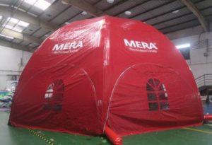 Mera Petfood dome, Maatwerk bij WE-inflate, van ontwerp tot prachtige tent 3