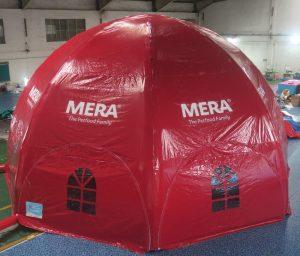 Mera Petfood dome, Maatwerk bij WE-inflate, van ontwerp tot prachtige tent 4