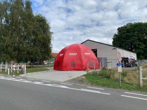 Mera Petfood dome, ontwikkeld en gemaakt door WE-inflate Enschede 1
