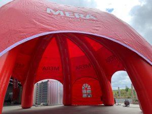 Mera Petfood dome, ontwikkeld en gemaakt door WE-inflate Enschede 3