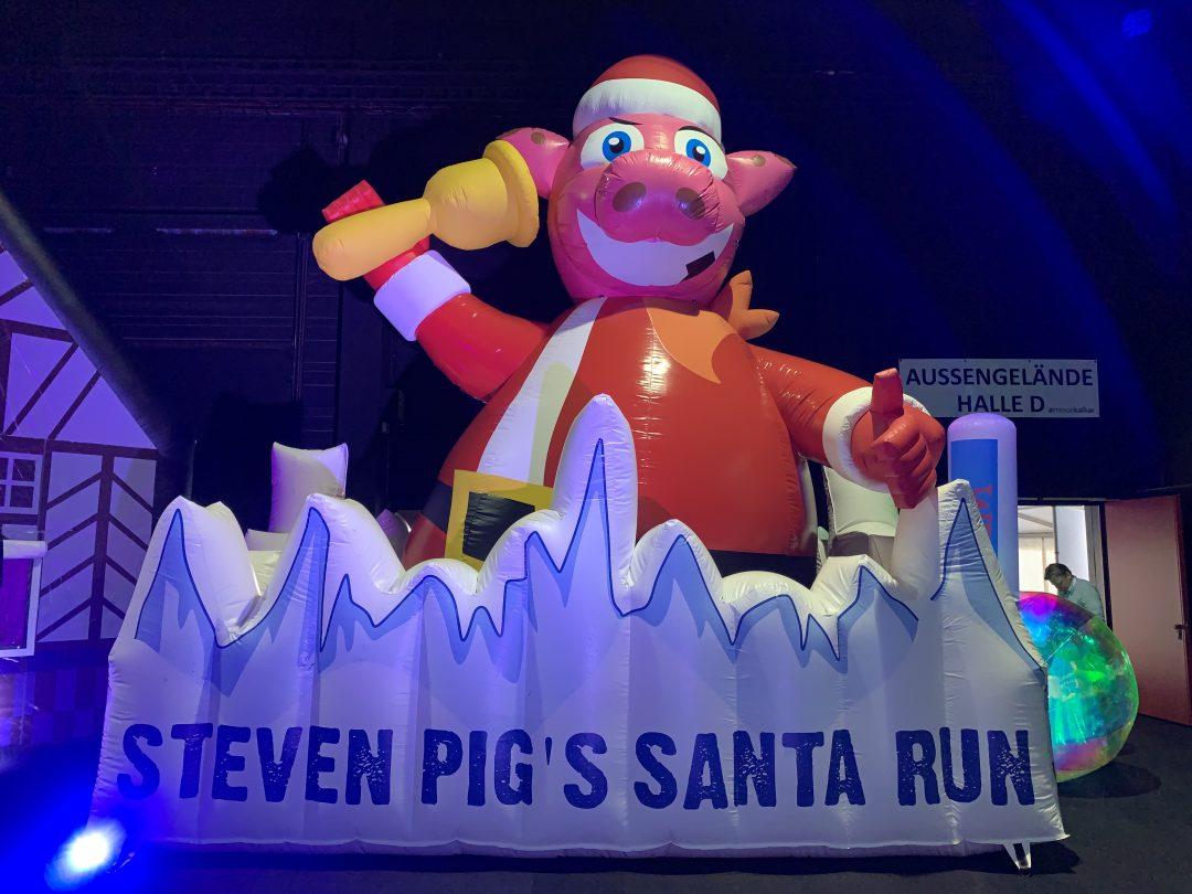 Santa Run. Voor Steven Pig's mud run!