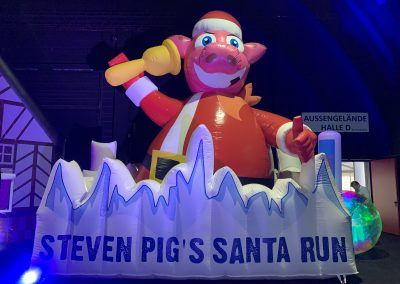 Santa Run. Voor Steven Pig's mud run!