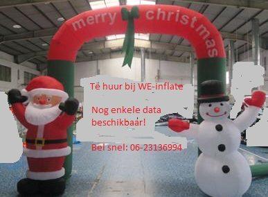 Kerstman en Sneeuwpop boog, nu nieuw in de verhuur!!